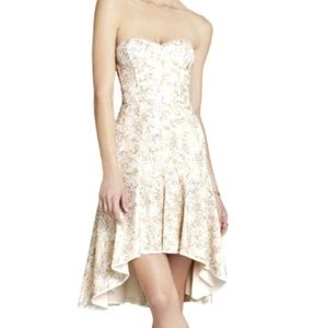 NWT BCBGMAXAZRIA Strapless Sequined Dress
